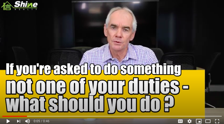 If you're asked to do something not one of your duties   what should you do?