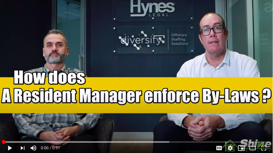 How does a resident manager enforce By Laws?